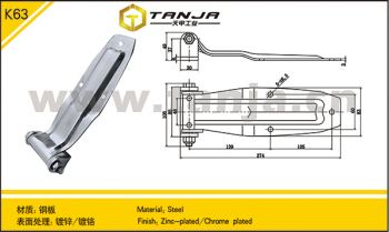 TANJA refrigerated truck door hinge Heavy duty stainless steel hinges
