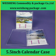 Customizable logo Plastic transparent Calendar case