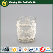 Beautiful design glass candle holder decorative glass bottles