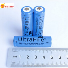 14500 1200mah 3.7v lithium lion battery rechargeable battery