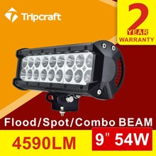 "Hot!!! 9"" led light bar, off road led light bars, 4WD led bar light 18w 36w 54w 72w 90w 108w126w 180w 198w 234w 288w"