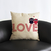 100% cotton linen white owl couple love & cushions