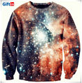 New design round neck pullover, custom 3d sublimation galaxy sweatshirt