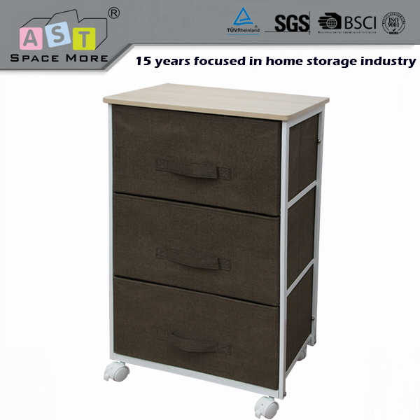 Promotion quality wholesale price 3 drawer rolling storage cart