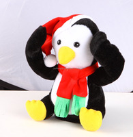 peek-a-boo penguin with scarf