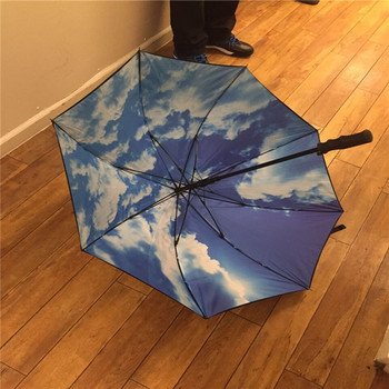 J1000 double layer high quality sky pic logo printed golf umbrella
