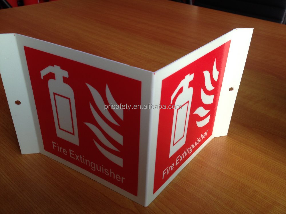 Reflective fire and safety signs luminious safety signs and notices
