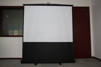 Low price floor mounted projection screen