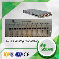 16 channels av to rf converter PAL / NTSC modulator