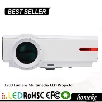 3200 Lumens pico pocket Multimedia LED projector for Education Meeting Advertisement projection optional built-in Android
