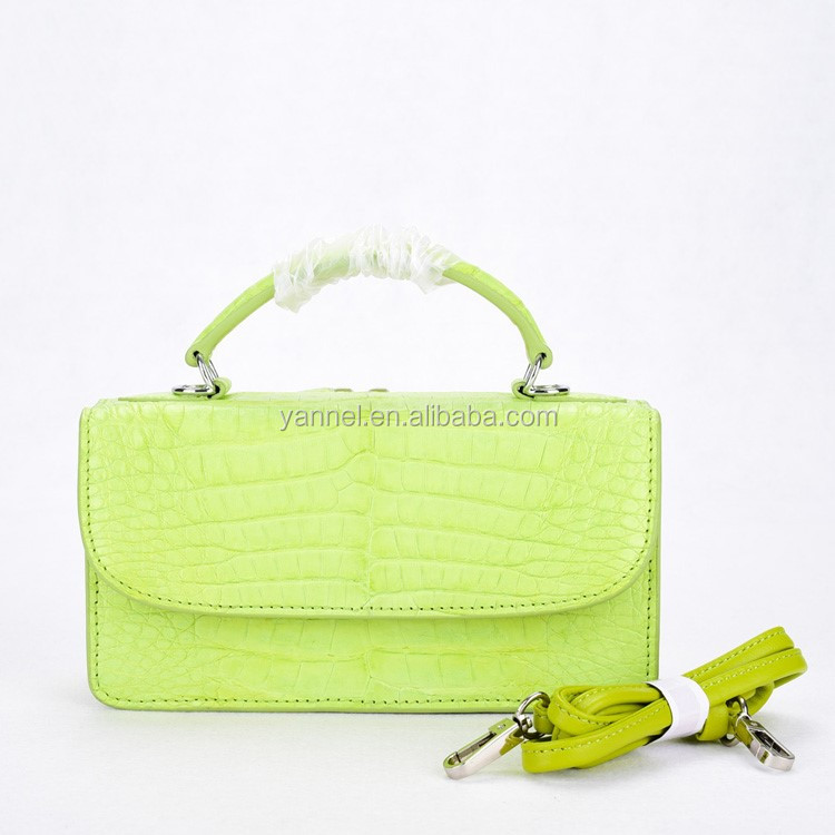 crocodile mini crossbody shoulder bag ladies exotic handbag mini croco belly wallet bag