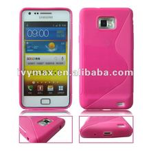 2012 hot pink TPU skin case cover for samsung i9100 galaxy s2 for woman