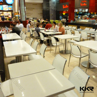 KKR latest design faux fossil stone mcdonald's dining table