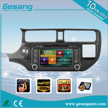 8 inch touch screen car radio dvd player for K3 / RIO 2012- with igo map bluetooth car multimedia navigation