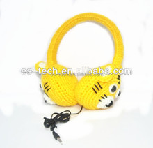 Yellow Tiger Earmuff headphone, wired headphpone for women and Kids