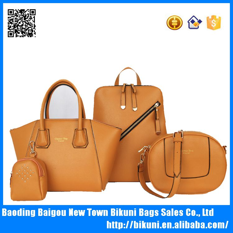 2016 New designer China high quality elegent PU leather bags set women tote bags 4 pcs women handbags set for lady
