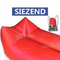 Best Quality Inflatable Banana Seat Chair, Wholesale Manufacturer Outdoor Furniture Lazybag With Pockets~