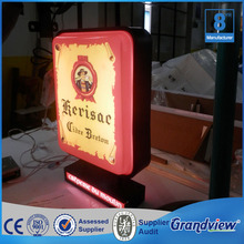High brightness waterproof rotating led outdoor advertising light board