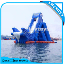 Giant Inflatable Water Slide, Drop Kick Water Slide for Adults, Exciting Water Slide with Frame Pool
