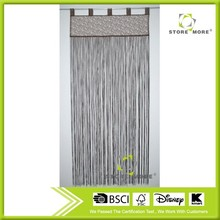 Cheap Polyester String Curtain/Fringe Flocked Curtain