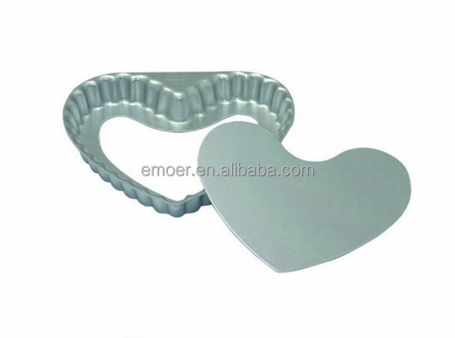 anodized Heart Shaped pizza pie pan
