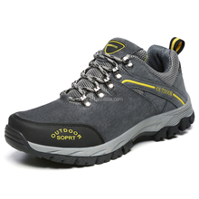 Quality Wholesale Large Size Climbing Trecking Shoes Lace-up Suede Mens Waterproof Hiking Shoes