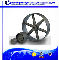 OEM custom Sand Casting cast iron for flat belt drive pulley