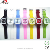 Cheap silicone rubber wristband watch custom your logo watches in Alibaba