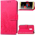Knurling pattern flip cover PU leather phone case for ZTE A910,with card slot and stand function