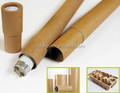 Postal Packing Tubes,Kraft Paper Packaging Tube with Metal/Paper Caps
