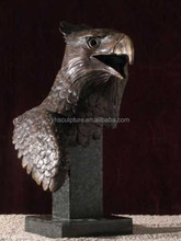large hand make bust eagle bronze statue