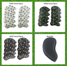 one set 10pcs golf iron club headcover