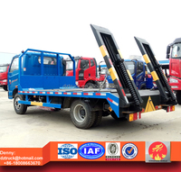 yuejin flat bed truck, flatbed truck for carrying excavator