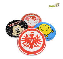 low cost custom table mats silicone cup coaster