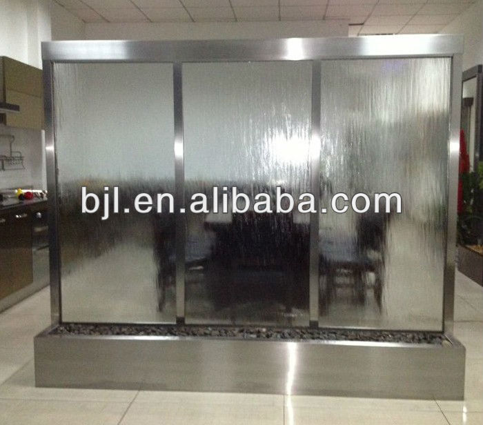 tempered clear glass stainless steel waterfall
