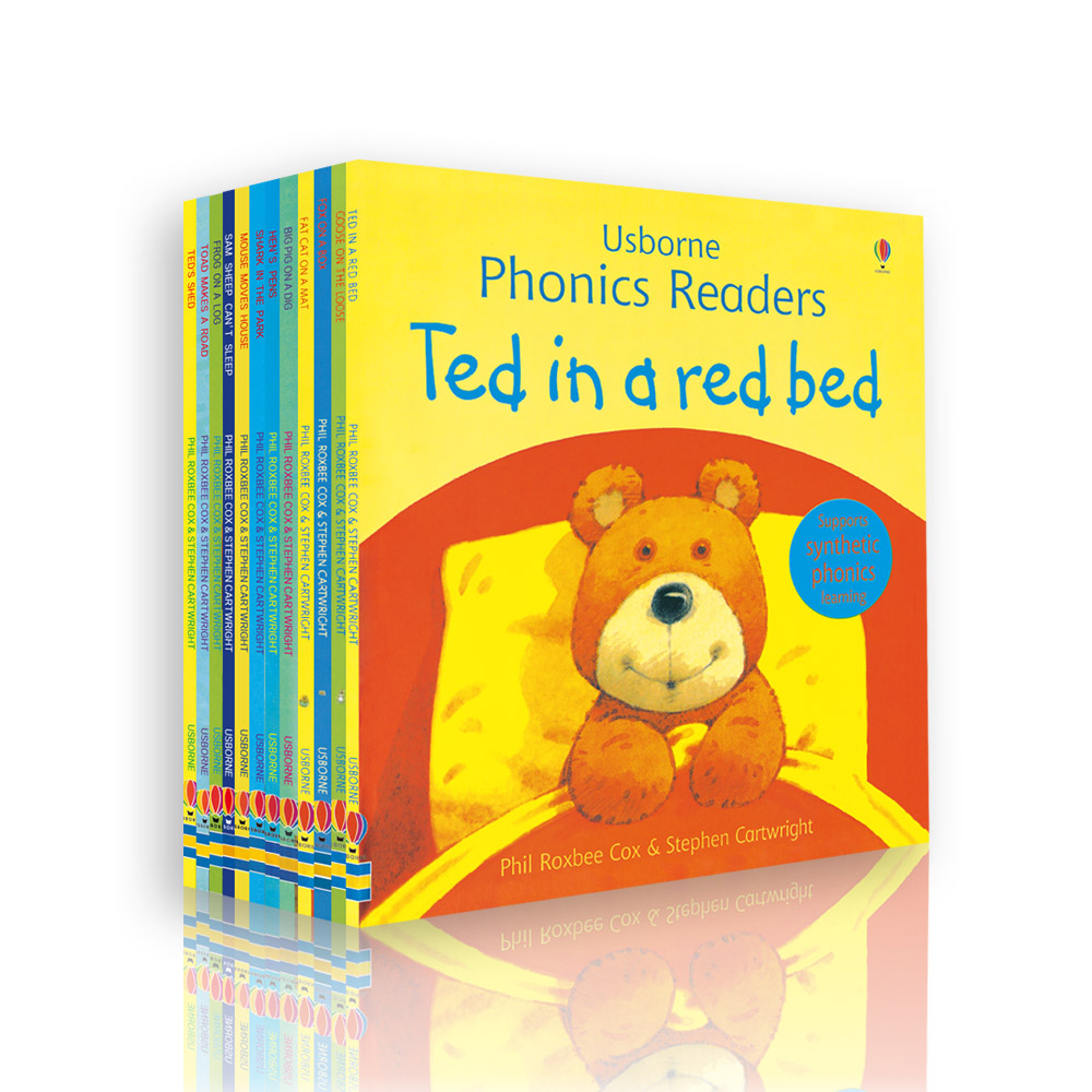 12 <strong>books</strong>/set Usborne Phonics Readers English Children's <strong>Book</strong> Early Education Storybook for Baby