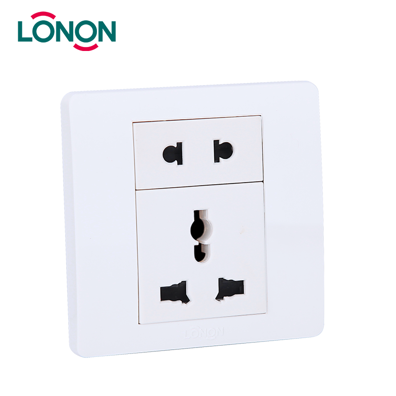 Electric 2 Pin and 3 Pin Socket with Switch Wiring