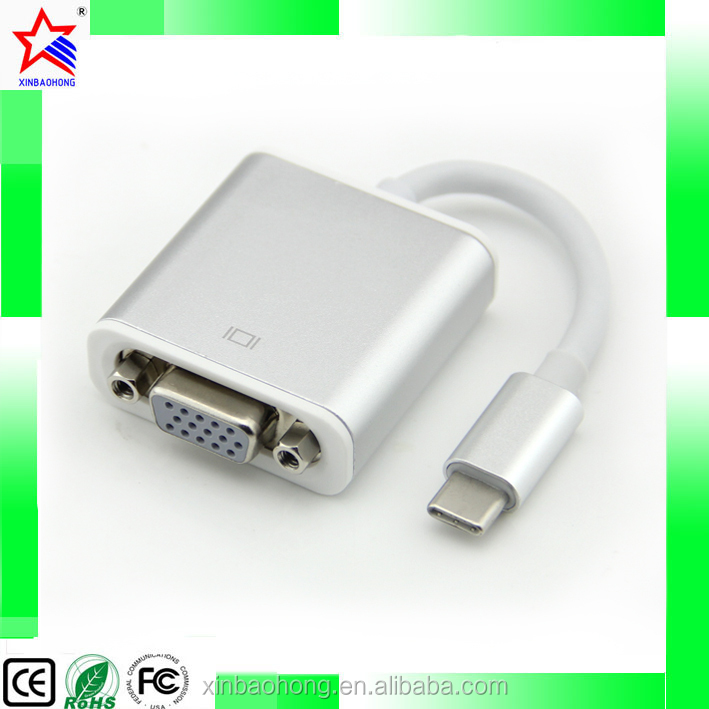 Portable Ultra-Slim USB 3.1 Type-C Male Connector to VGA Male Adapter Converter
