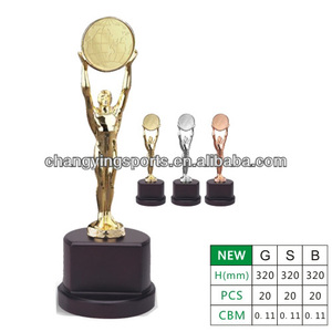 Oscar Metal Trophy Oscar Statue Awards Wooden trophy Base 002