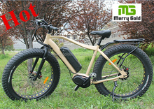 mid drive bafang brand motor 250w man fat tire style off road electric bike
