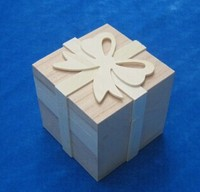 2015 best seller good design unfinished gift box wooden bow box wholesale ,wooden art and crafts