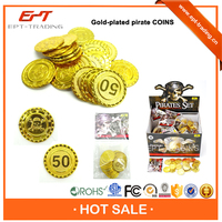Top quality funny plastic pirate coin toy for sale