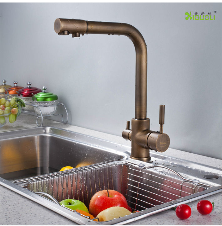 Bathroom antique faucet with water purifier