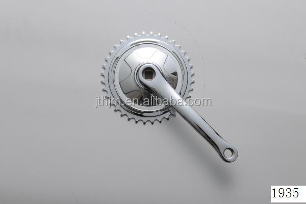 S109P steel single speed chainwheel and crank with 170mm steel crank and plastic chainguard