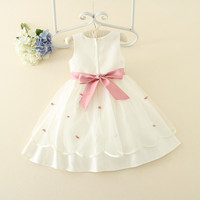 Guangzhou wholesale party dress new girls frock design girls party dress boutique frocks one piece girls party dress