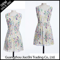 Custom Latest Women Clothes Dresses,Latest Casual printed flower Women Dresses For Ladies