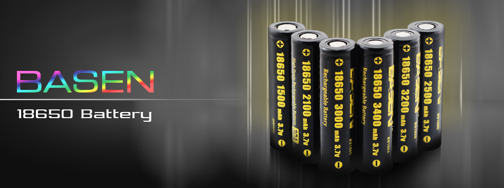 New products Basen 5000mAh 50A 26650 battery thinner and shorter 26650 battery good battery for vape mod