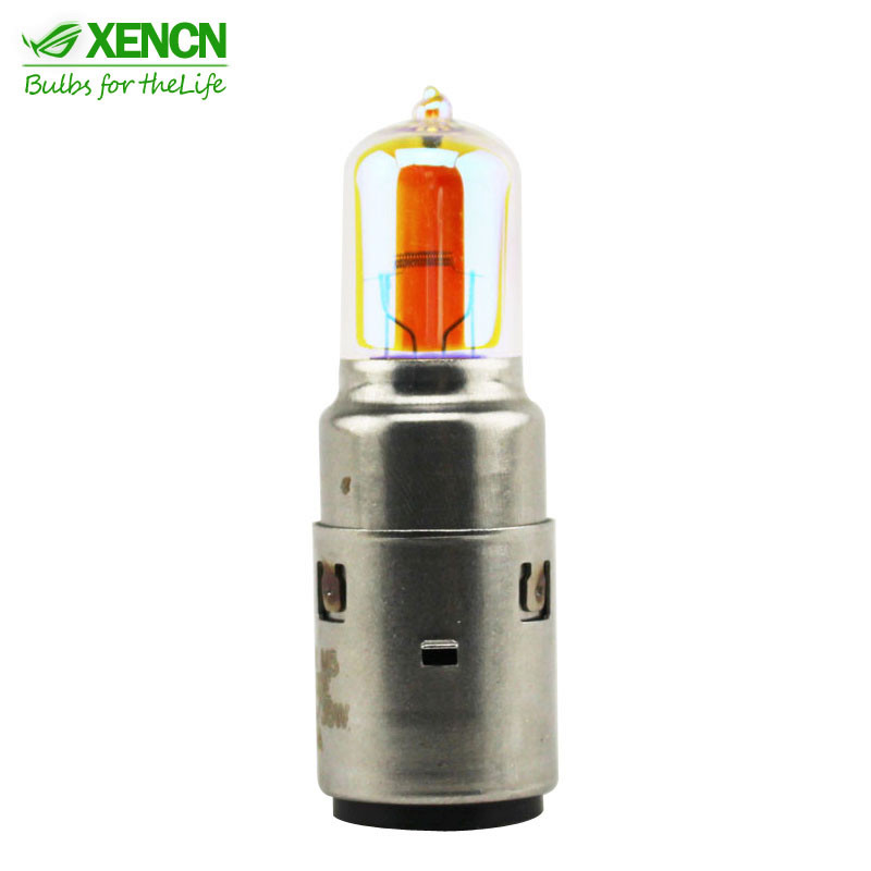 XENCN 2600K GLODEN EYES yellow light motorcycle double front light 12V 35/35W ba20d halogen