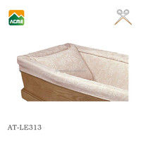 AT-LE313 solid wood funeral coffin lining factory