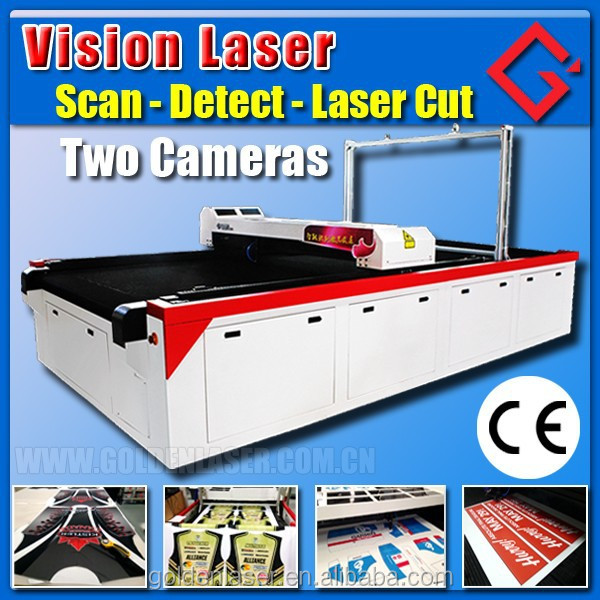 Contour Cut Fabric Laser Cutter for Printing Sportswear,Swim Suit,T-shirt,Handbags,Banners